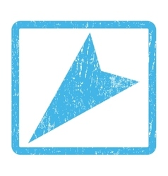 Arrowhead left-down icon rubber stamp vector