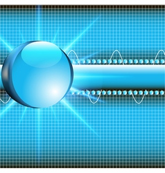 Background with glass ball vector