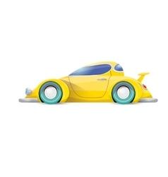 cartoon orange car isolated on white vector image vector image