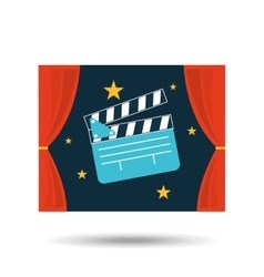 concept cinema theater clapper graphic design vector image