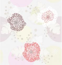 cute pastel spring floral patt vector image vector image