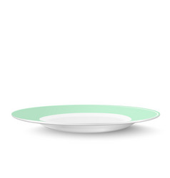 Empty plate in light green design isolated on vector