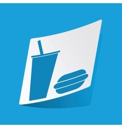 Fast food sticker vector image