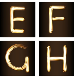 Fireshow font vector image vector image