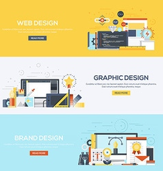 Flat designed banners Design vector image