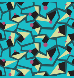 geometric memphis style modern seamless pattern vector image vector image