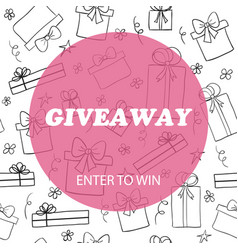 Giveaway card template vector