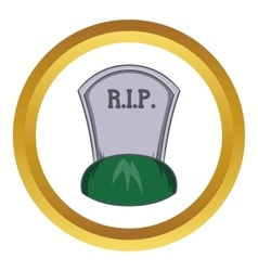 Grave rip icon vector image vector image