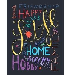 Happy life lettering vector