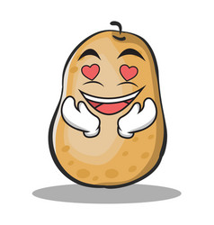 In love potato character cartoon style vector