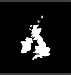 map of united kingdom white color icon vector image vector image
