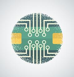 Printed circuit board icon vector