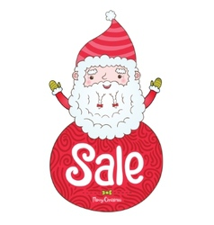 Santa Claus and Christmas sale badge vector image vector image