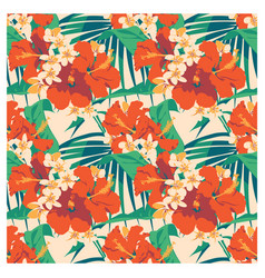 seamless summer hawaiian tropical pattern with vector image