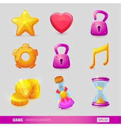 Set with game design elements vector image