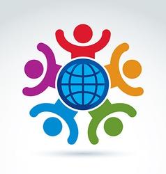 Society happy and joyful and organizations taking vector