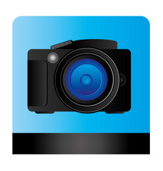 Studio professional camera icon vector