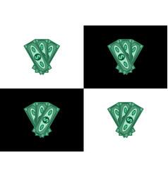 three hundred dollars vector image vector image