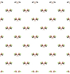 UAE flag pattern cartoon style vector image