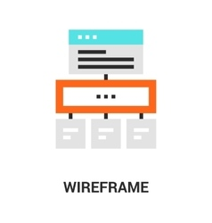 Wireframe icon concept vector