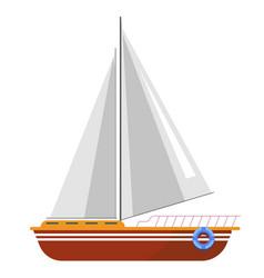 yacht sailboat or sailing ship sail boat marine vector image vector image