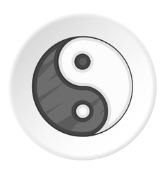 Yin yang icon cartoon style vector