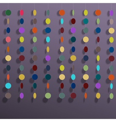 Hanging colorful circles vector image