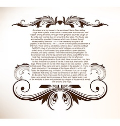 Vintage frame with text space vector