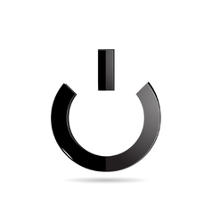 The power button on an white background vector