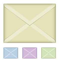 Colored envelopes vector