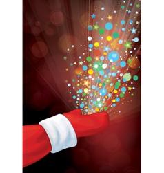 hand lights vector image