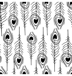 Seamless feather patterns vector