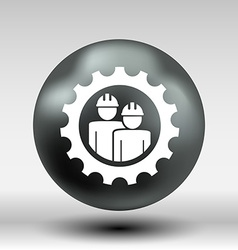 Mechanics working icon button logo symbol concept vector