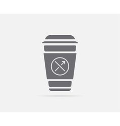 Bakery shop coffee cup element or icon ready for vector