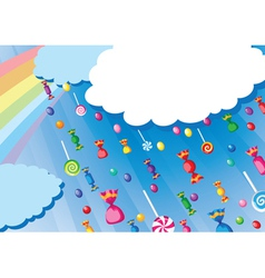 Candy rain card vector