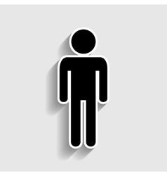 Man sign sticker style icon vector