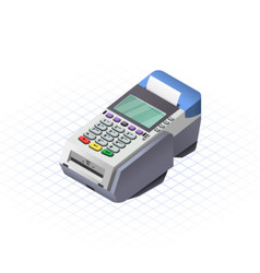 Isometric Electronic Data Capture vector image