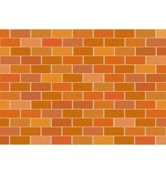 A fragment of red brick wall vector