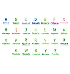 Alphabet logo set vector