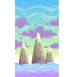 Cartoon vertical cloudscape vector