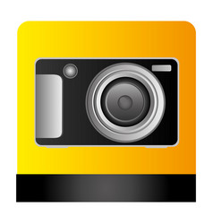 Digital professional camera icon vector