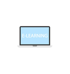 E-learning flat icon education and school element vector
