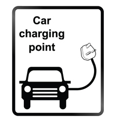 Electric Car Information Sign vector image