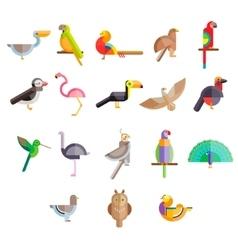 Flat design birds icon vector image vector image