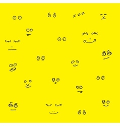 Funny faces vector