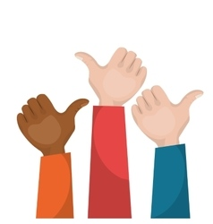 hand like multicultural teamwork vector image