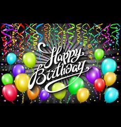 Happy birthday typographic design for greeting vector