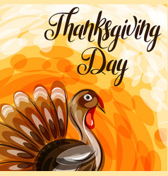 Happy thanksgiving day greeting card with abstract vector