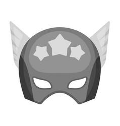 Helmet single icon in monochrome stylehelmet vector