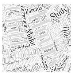 Homeschooling hours word cloud concept vector